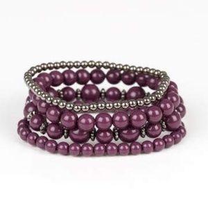 Free with Bundle Rockin Rococo Purple Bracelet